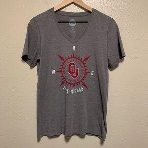Life is good Oklahoma university compass tee